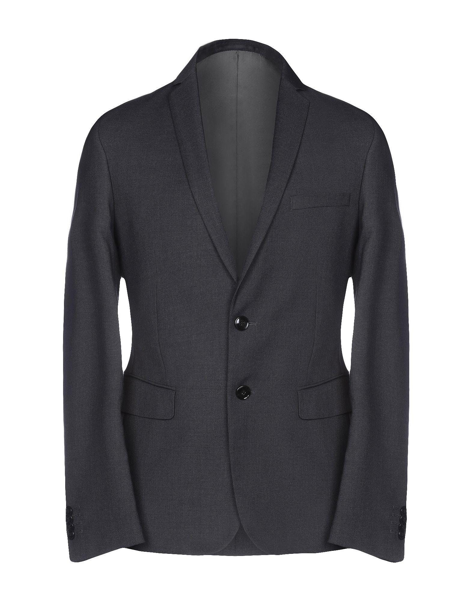 《期間限定セール中》DAVID NAMAN メンズ テーラードジャケット スチールグレー 46 ポリエステル 70% / レーヨン 28% / ポリウレタン 2%