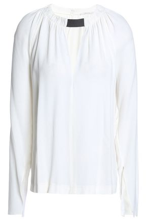 HOUSE OF DAGMAR Vera cutout crepe blouse