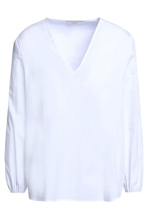 HOUSE OF DAGMAR Velda cotton-poplin blouse