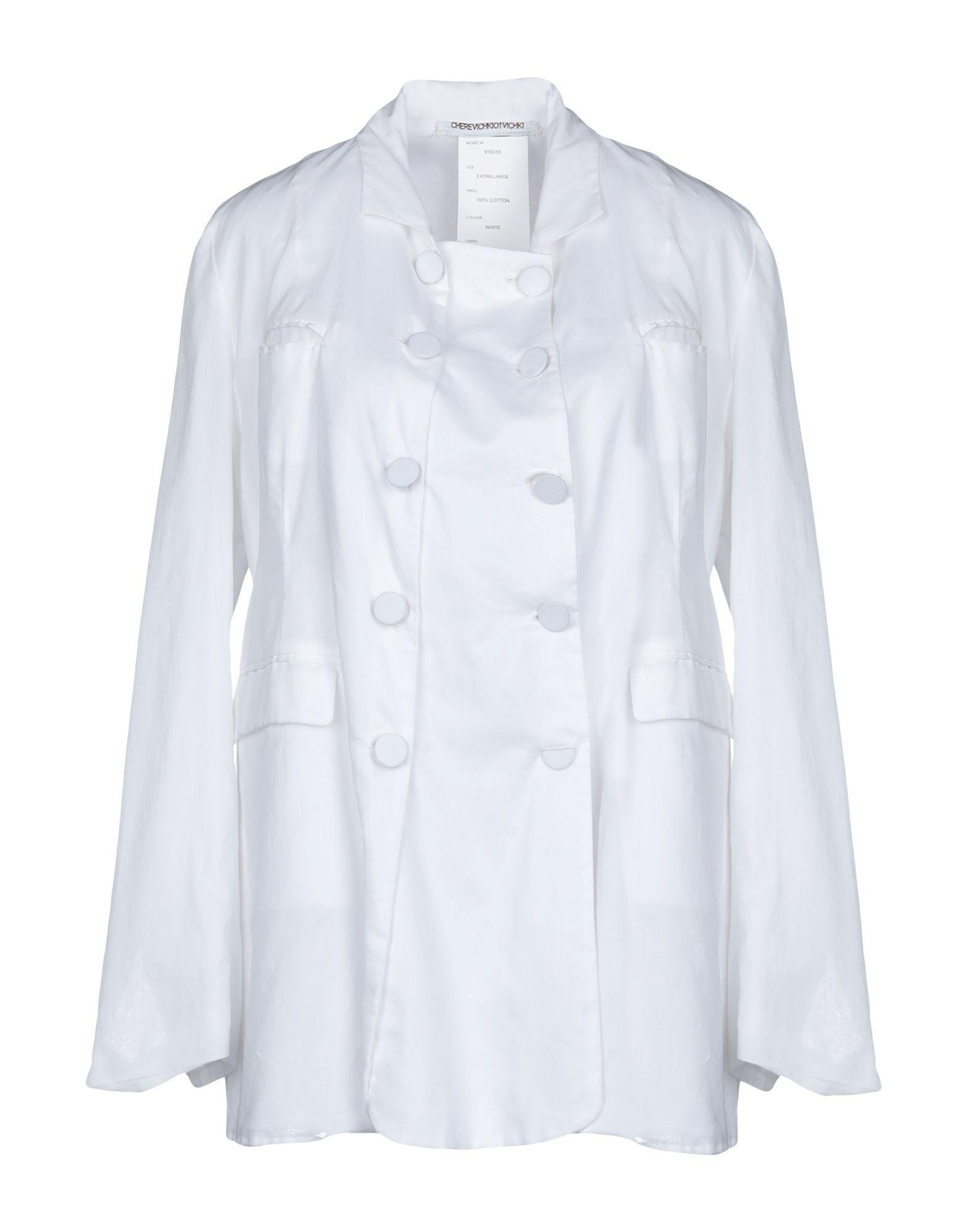 《送料無料》CHEREVICHKIOTVICHKI レディース テーラードジャケット ホワイト M コットン