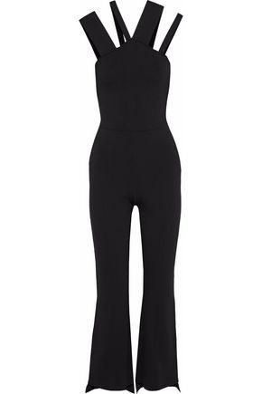 ROLAND MOURET Halesworth cutout stretch-knit jumpsuit