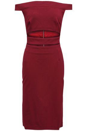 NICHOLAS Off-the-shoulder cutout stretch-knit dress