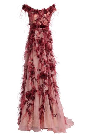 MARCHESA Silk gown