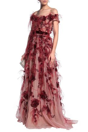 MARCHESA Silk gown