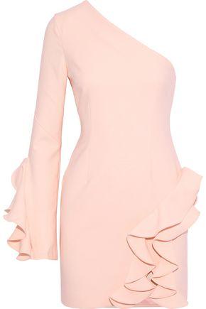 CINQ À SEPT Pia one-shoulder ruffled cady mini dress