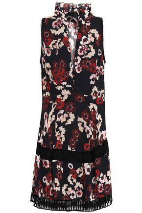 NICHOLAS Floral-print silk-georgette mini dress