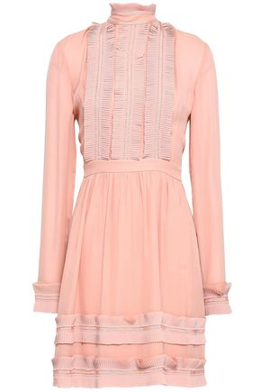 NICHOLAS Silk-crepe mini dress
