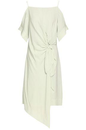 GREY JASON WU Cold-shoulder wrap-effect twill dress