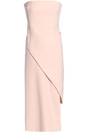 NICHOLAS Asymmetric draped crepe dress