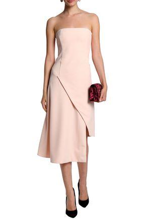 NICHOLAS Asymmetric draped crepe dress