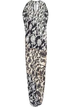 ROLAND MOURET Deane printed silk-georgette midi dress
