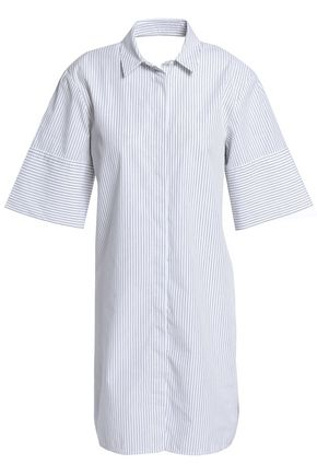 HOUSE OF DAGMAR Caddie twist-back striped cotton-poplin tunic
