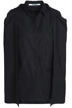 CHALAYAN Cape-effect cotton-poplin shirt