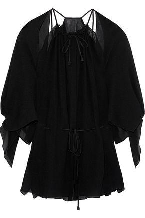 ROLAND MOURET Normanby cutout silk crepe de chine blouse
