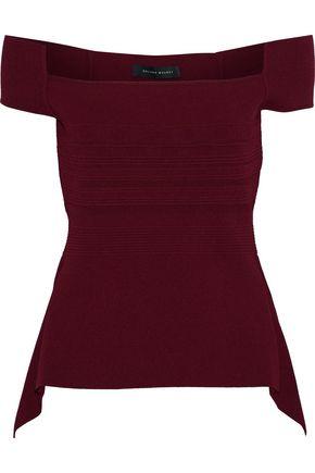 ROLAND MOURET Beal off-the-shoulder stretch-knit top