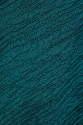 ROLAND MOURET Brierley one-shoulder cotton-blend cloqué top