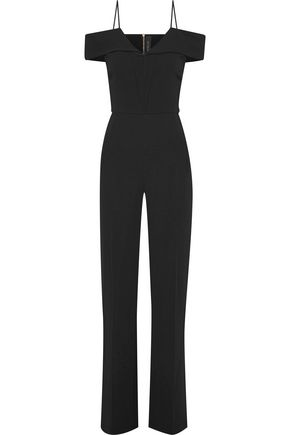 Corsham Cold Shoulder Crepe Jumpsuit by Roland Mouret