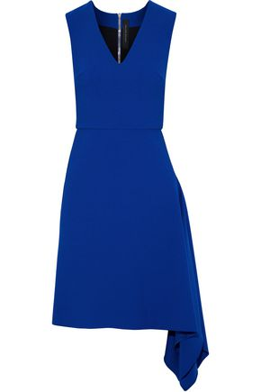 ROLAND MOURET Asymmetric stretch-crepe dress