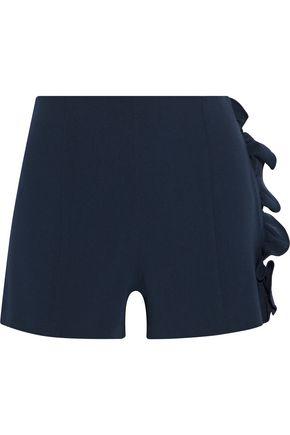 CINQ À SEPT Kenzie ruffle-trimmed crepe shorts