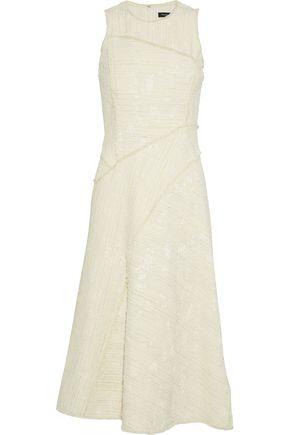 PROENZA SCHOULER Frayed cotton-blend tweed midi dress