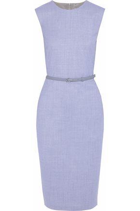 MAX MARA Glassa belted stretch-wool dress