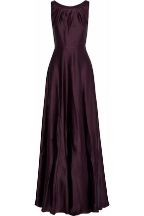 WEEKEND MAX MARA Osol cutout hammered silk-satin gown