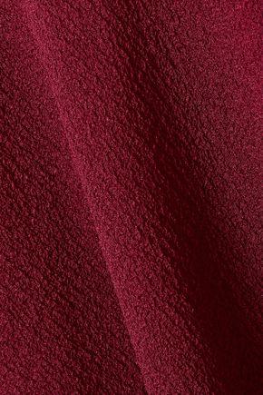 ROLAND MOURET Nettleton draped one-shoulder silk-crepon jumpsuit