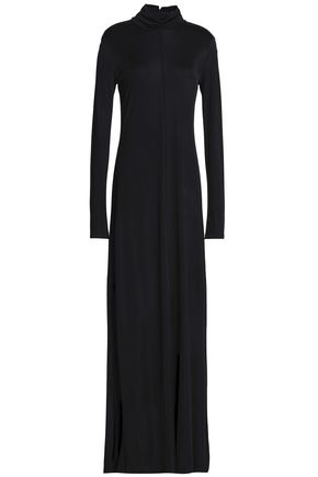 HOUSE OF DAGMAR Stretch-jersey turtleneck gown