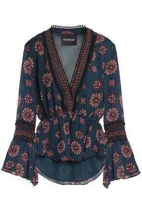 NICHOLAS Printed silk blouse