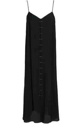 HOUSE OF DAGMAR Barbell-embellished woven midi dress