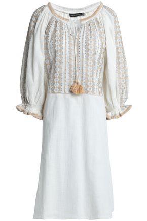ANTIK BATIK Lully metallic embroidered cotton-gauze dress