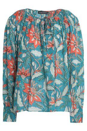 ANTIK BATIK Kalao printed cotton-gauze top
