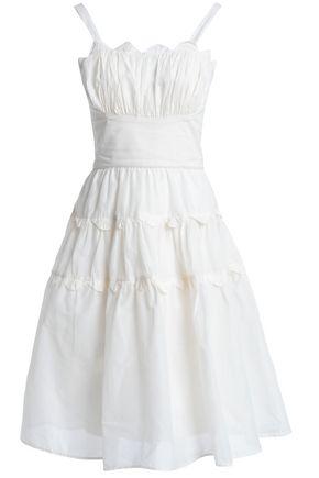 ANTIK BATIK Lola flared ruched cotton dress