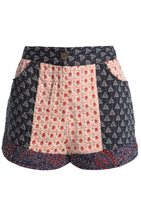 ANTIK BATIK Patye patchwork cotton shorts