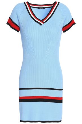RAOUL Ribbed intarsia-knit mini dress