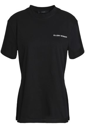 ELLERY Printed cotton-jersey T-shirt