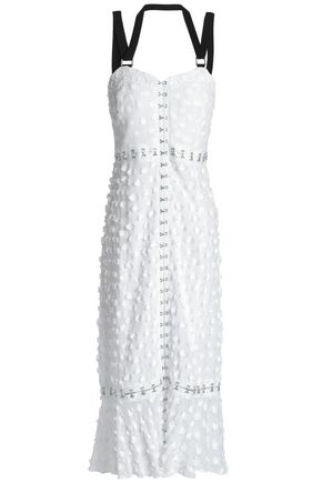 PROENZA SCHOULER Fil coupé cotton and silk-blend midi dress