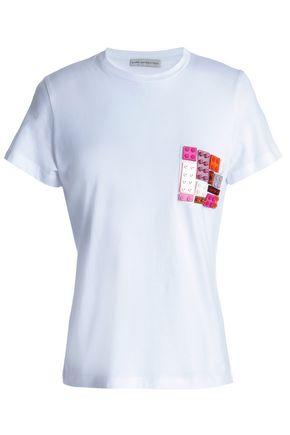 MARY KATRANTZOU Iven appliquéd cotton-jersey T-shirt
