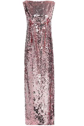 EMILIA WICKSTEAD Open-back sequined tulle gown
