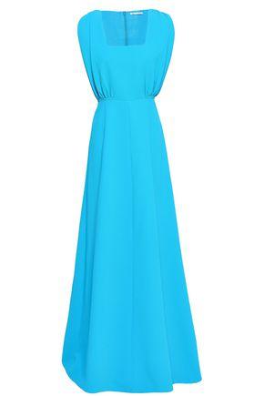 EMILIA WICKSTEAD Gathered crepe maxi dress