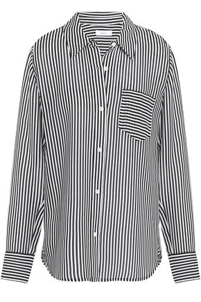 A.L.C. Striped silk crepe de chine shirt