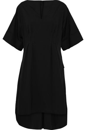 OSCAR DE LA RENTA Pleated cotton-blend poplin tunic