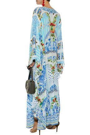 CAMILLA A Night To Remember embellished printed silk crepe de chine kaftan