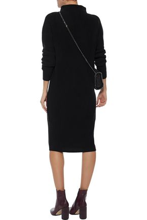 Ribbed Cashmere Turtleneck Dress by N.Peal
