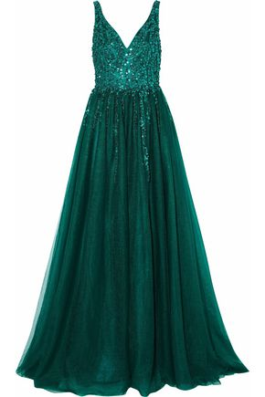 RAOUL Embellished tulle gown