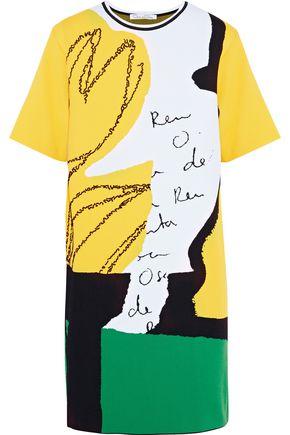 OSCAR DE LA RENTA Beaded jacquard-knit mini dress