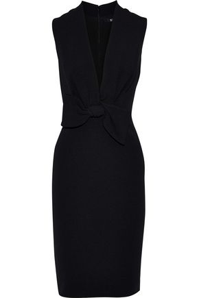 BADGLEY MISCHKA Bow-embellished faille dress