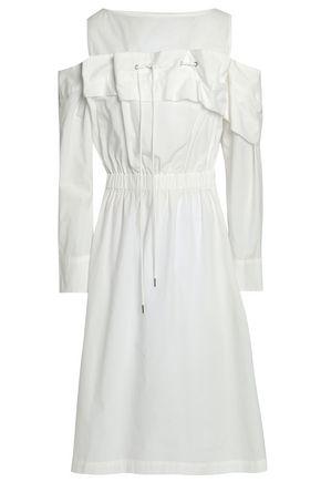 CHALAYAN Cold-shoulder cotton-poplin dress