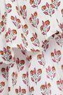 ANTIK BATIK Printed ruffled cotton woven top