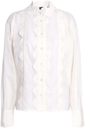 ANTIK BATIK Scalloped cotton shirt